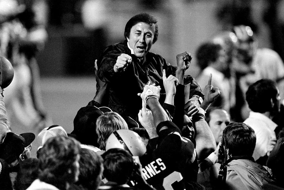 Tom Flores led the Raiders to two Super Bowl wins.