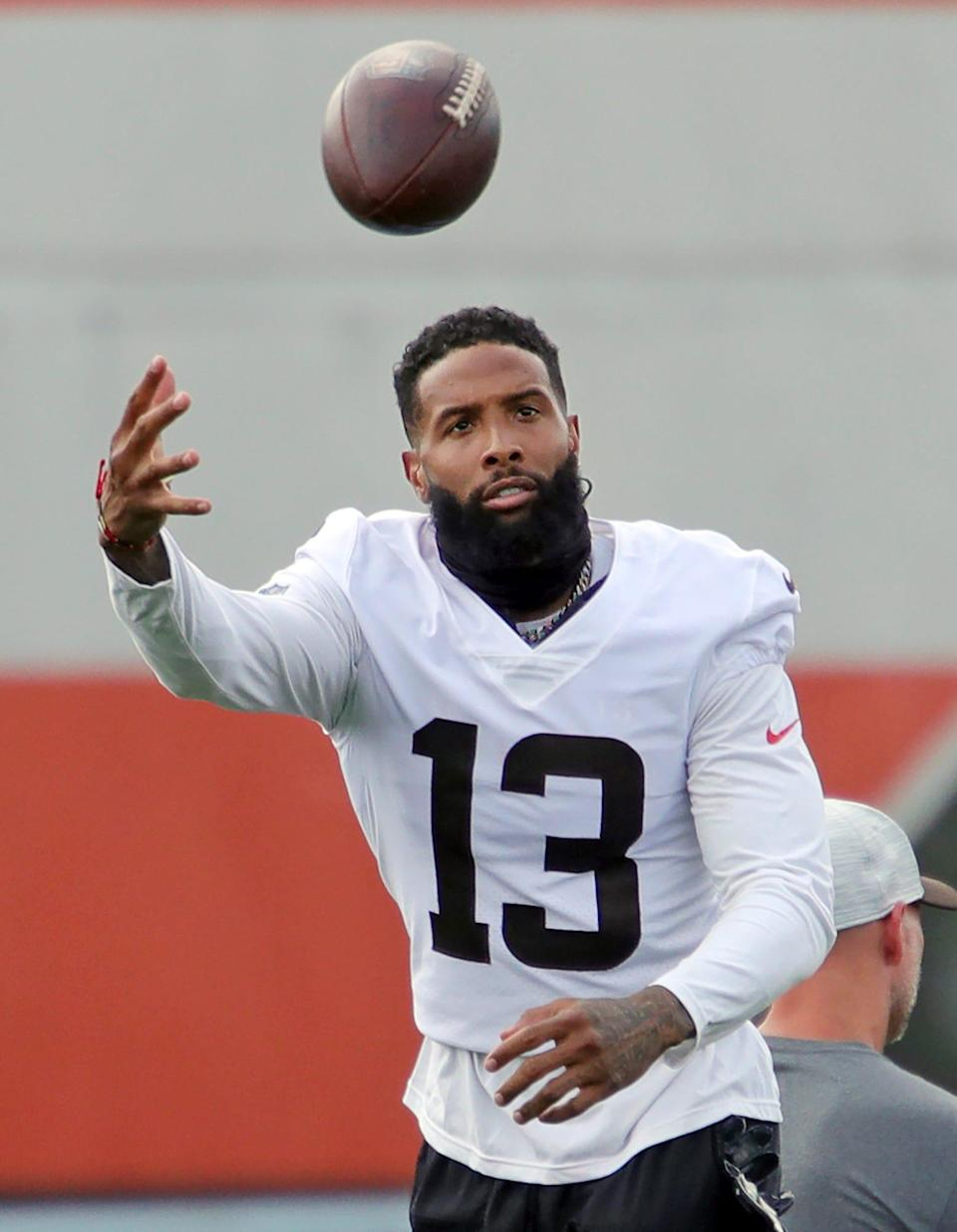 In seven games last season, Odell Beckham Jr. caught 23 passes for 319 yards and three touchdowns and rushed three times for 74 yards and a score.