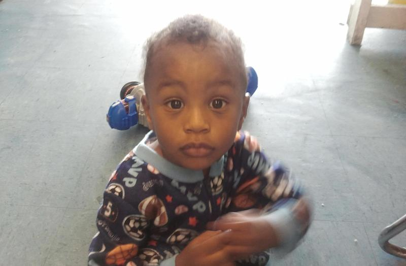 In this Nov. 25, 2011 photo provided by the Columbia S.C., Police Dept., 18-month-old Amir Jennings is shown near Columbia, S.C. Amir disappeared on December 2011 while in custody of his mother. Amir's mother, Zinah Jennings, has been on trial on a charge related to his dissapearance.  (AP Photo/Columbia S.C., Police Dept.)