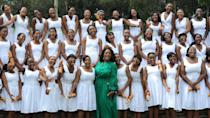 """<p>Founded in 2007, The Oprah Winfrey Leadership Academy for Girls is funded by a foundation of the same name. In 2017, Winfrey told Variety she spent an estimated $140 million over the past 10 years to keep the boarding school for underprivileged girls in grades eight to 12 running.</p> <p>She pays all the girls' living expenses, including school uniforms and braces — the students even refer to her as """"Mama O,"""" according to Variety. Winfrey isn't just behind this bold idea to help, she said she spends at least a week on campus during visits and makes a point to have a fireside chat with each girl.</p> <p><small>Image Credits: Gallo Images/REX/Shutterstock</small></p>"""