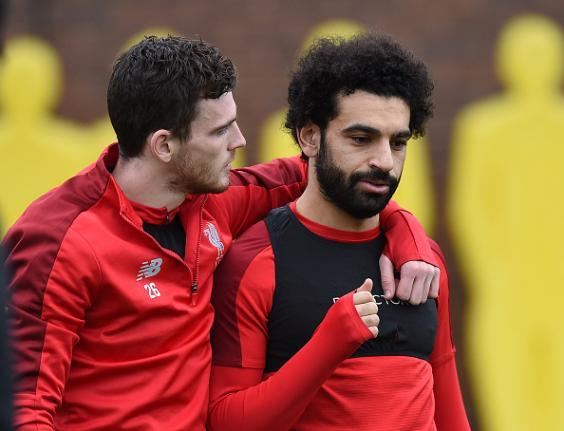Andy Robertson said Mohamed Salah was not the type of player who dives (Getty)