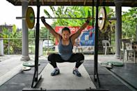 Hidilyn Diaz trained in car port of a house in Malaysia before winning a stunning Olympic gold for the Philippines