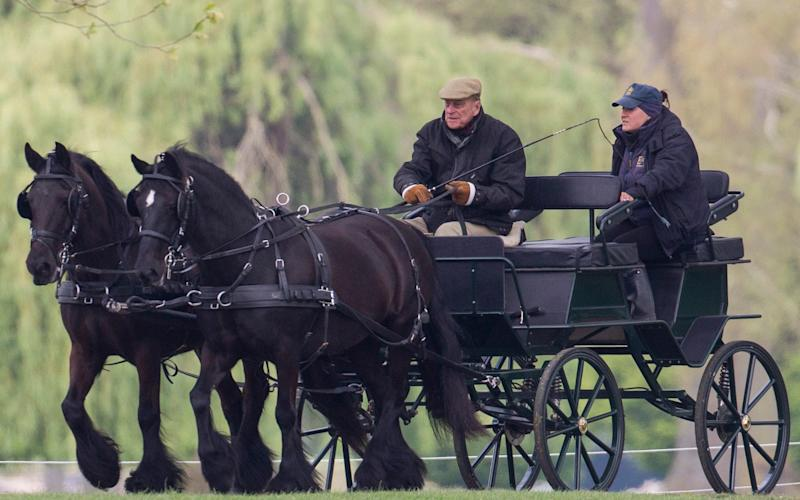 The Duke of Edinburgh riding in Windsor Great Park, the day before the Queen's birthday - Credit: Heathcliff O'Malley