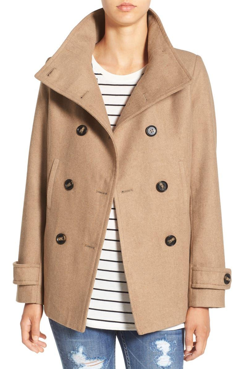 Thread & Supply Double Breasted Peacoat in Camel. Image via Nordstrom.