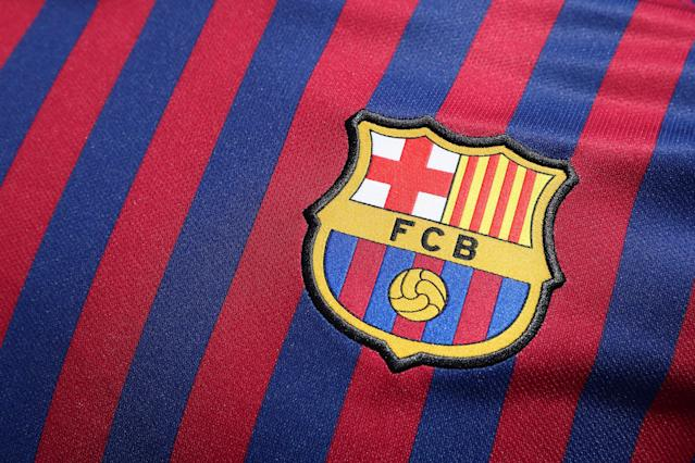 Soccer Football - FC Barcelona unveil the new jersey for the season 2018-2019 - Barcelona, Spain - May 19, 2018 The new FC Barcelona jersey is unveiled REUTERS/Albert Gea