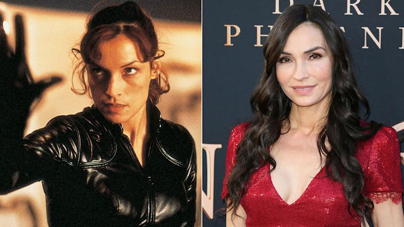 Famke Janssen - Jean Grey in <i>X-Men</i> and (R) at the <i>Dark Phoenix</i> premiere, 2019.