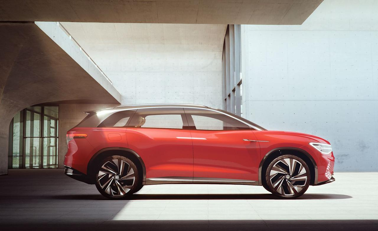 <p>Volkswagen claims a top speed of 112 mph and says the Roomzz can go from zero to 62 mph in 6.6 seconds. The concept is capable of both inductive charging and traditional plug charging.</p>