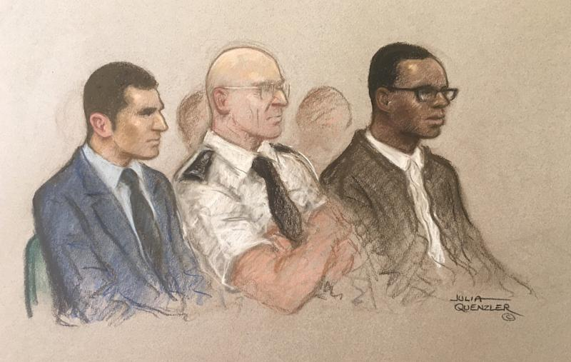 Manuel Petrovic, 20, (left) and Svenson Ong-a-Kwie, 19, appearing at the Old Bailey charged with the murder. (SWNS)
