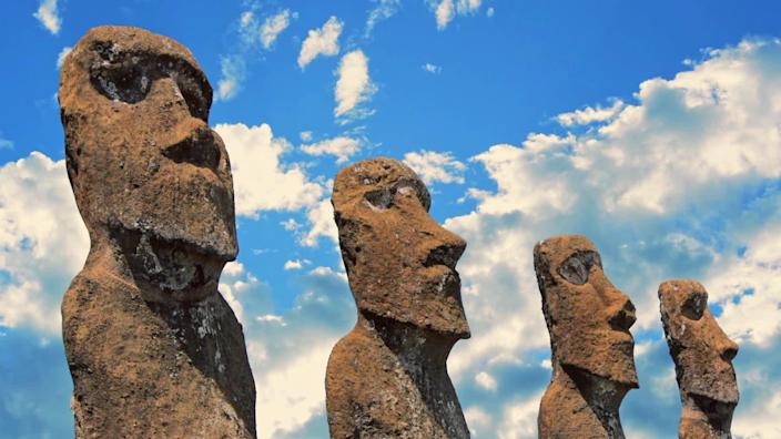 The Moai of Rapa Nui, also known as Easter Island. / Credit: CBS News