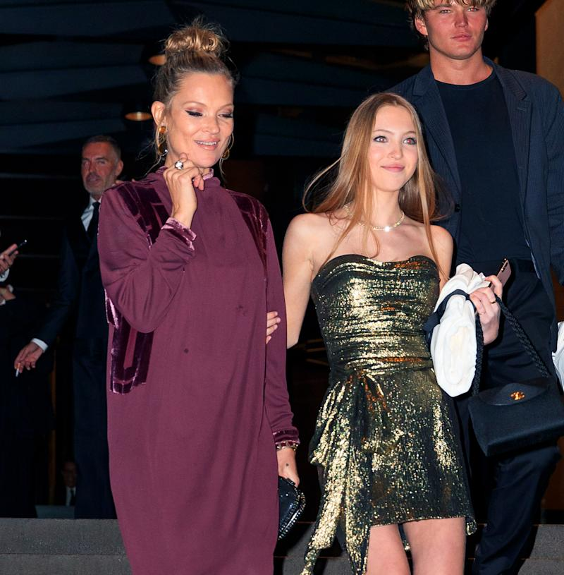 Earlier in the year, Kate Moss attended Marc Jacobs' wedding with her daughter. [Photo: Getty]