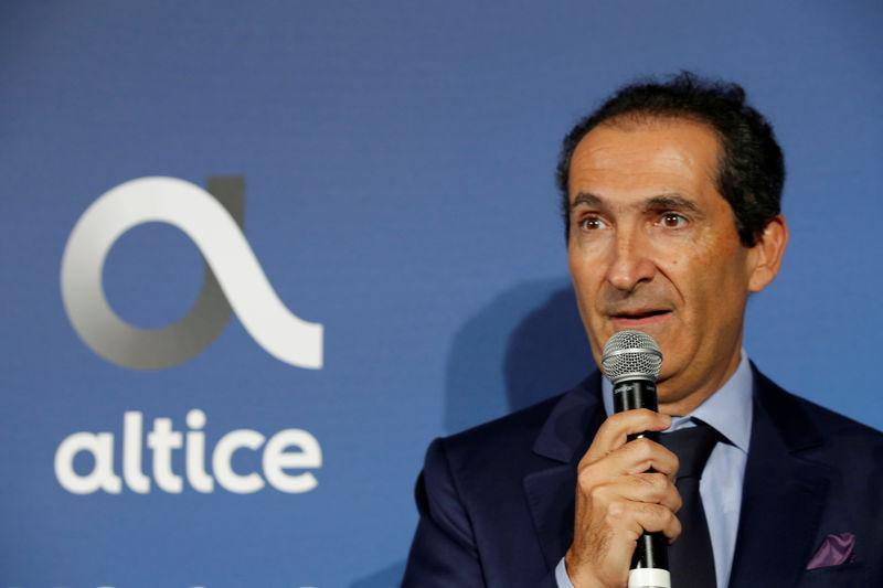 Patrick Drahi, Franco-Israeli businessman and founder of cable and mobile telecoms company Altice Group attends the inauguration of the Altice Campus in Paris