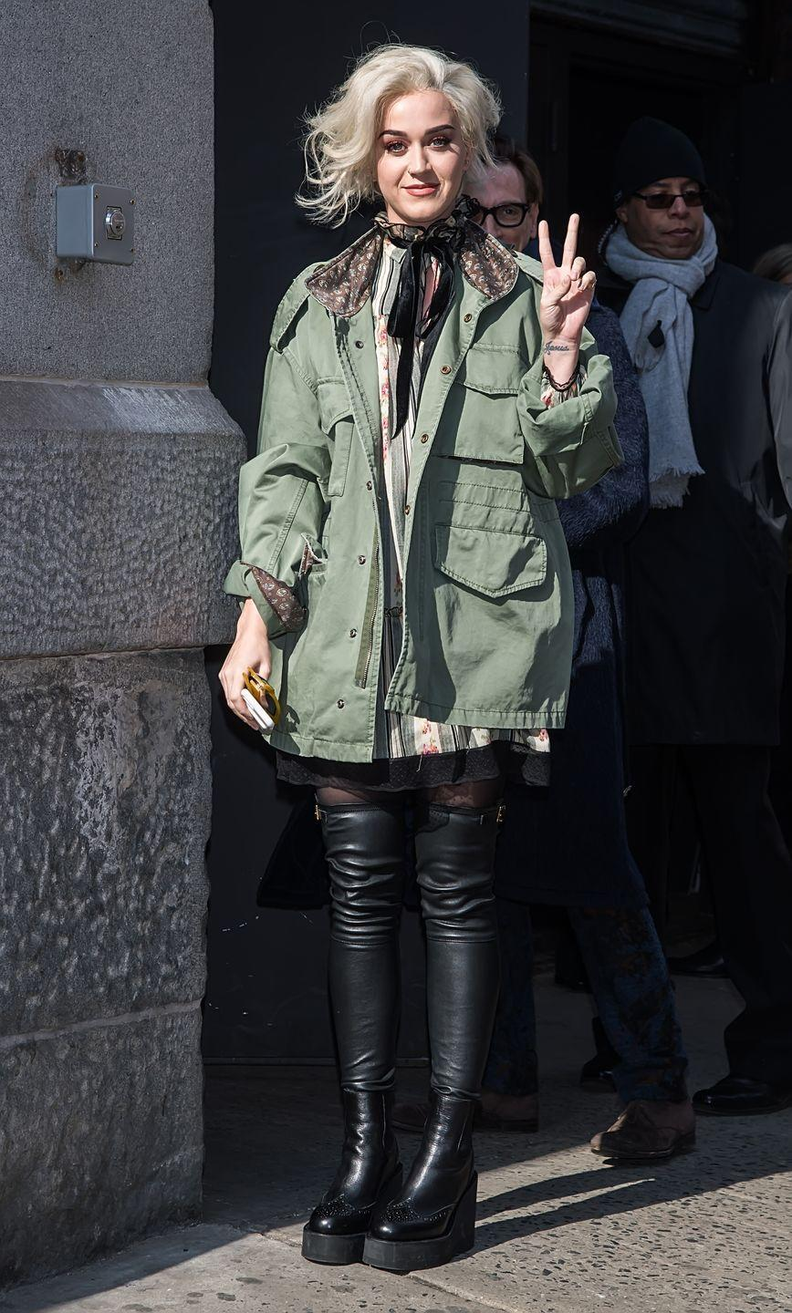 <p>Katy Perry is seen arriving at the Marc Jacobs Fall 2017 Show at Park Avenue Armory on February 16, 2017 in New York City.</p>