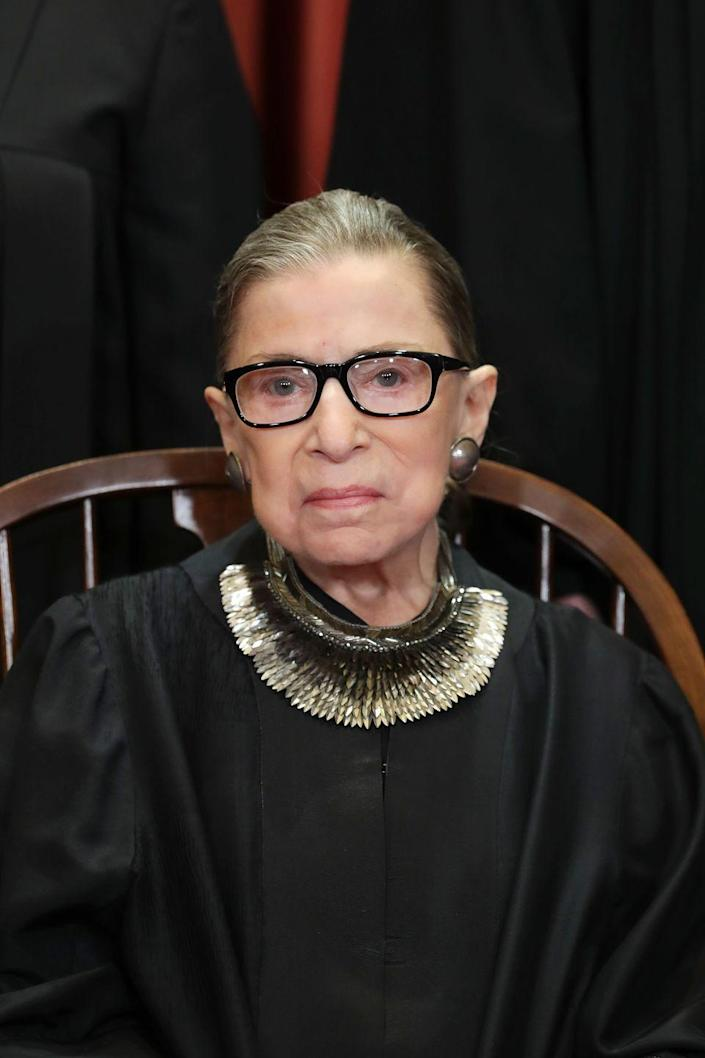 """<p>Nobody knew how to mix legal mastery with <a href=""""https://www.townandcountrymag.com/society/politics/a25362496/ruth-bader-ginsburg-collar-meaning/"""" rel=""""nofollow noopener"""" target=""""_blank"""" data-ylk=""""slk:accessory swagger"""" class=""""link rapid-noclick-resp"""">accessory swagger</a> quite like the Notorious RBG. Throw on that old <a href=""""https://www.amazon.com/GraduationMall-Unisex-Premium-Graduation-Medium/dp/B00T3VA6OW/ref=sr_1_4?tag=syn-yahoo-20&ascsubtag=%5Bartid%7C10067.g.33370347%5Bsrc%7Cyahoo-us"""" rel=""""nofollow noopener"""" target=""""_blank"""" data-ylk=""""slk:graduation gown"""" class=""""link rapid-noclick-resp"""">graduation gown</a> that's been stuffed in the back of your closet for ages and you're more than halfway to one supremely iconic Halloween look.</p><p><strong>More:</strong> <a href=""""https://www.townandcountrymag.com/style/fashion-trends/g28703719/political-halloween-costumes/"""" rel=""""nofollow noopener"""" target=""""_blank"""" data-ylk=""""slk:The Best Political Halloween Costumes to Wear This Year"""" class=""""link rapid-noclick-resp"""">The Best Political Halloween Costumes to Wear This Year</a></p>"""