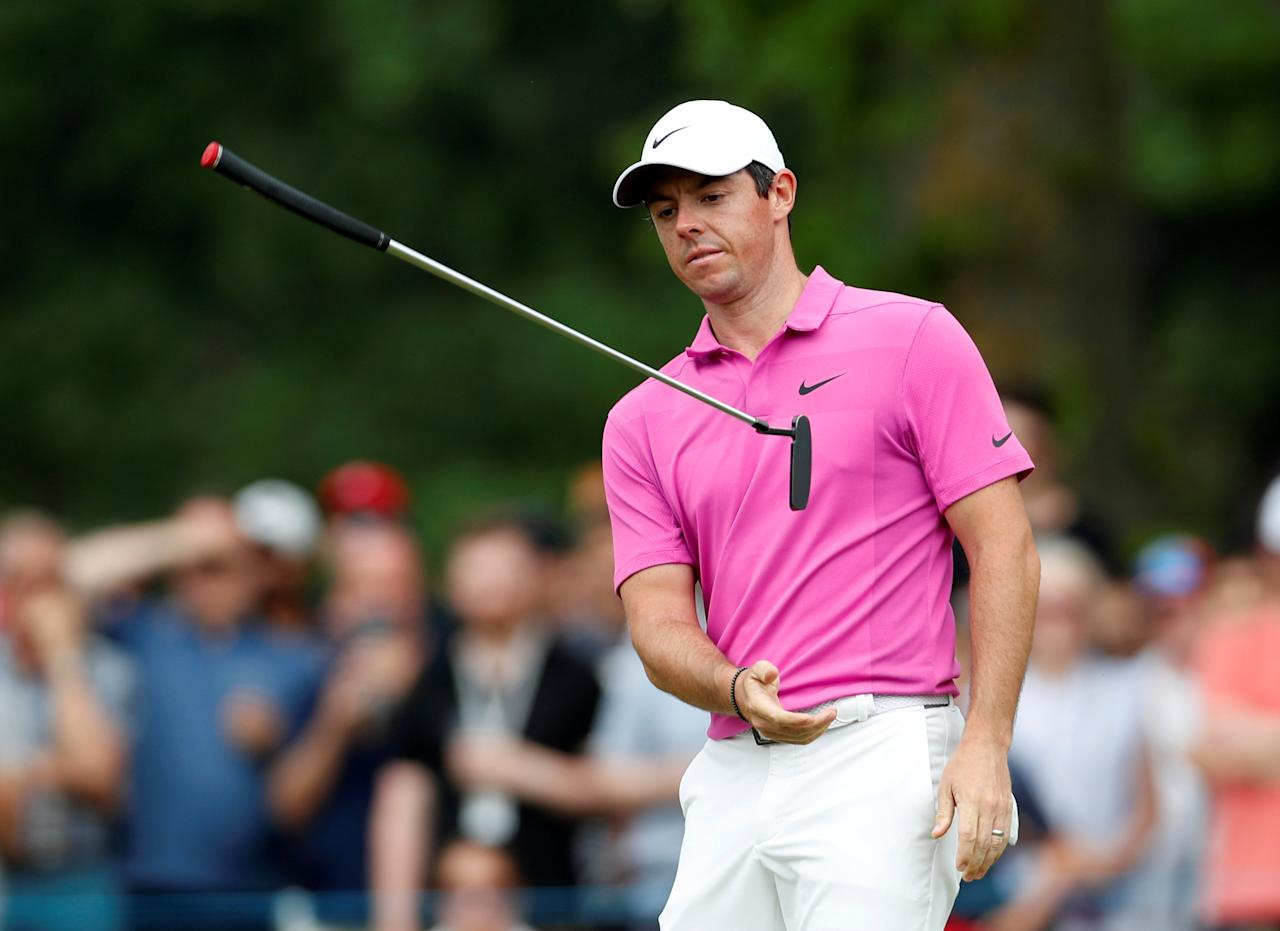 Golf - European Tour - BMW PGA Championship - Wentworth Club, Virginia Water, Britain - May 27, 2018   Northern Ireland's Rory McIlroy reacts after missing a putt during the final round   Action Images via Reuters/Paul Childs