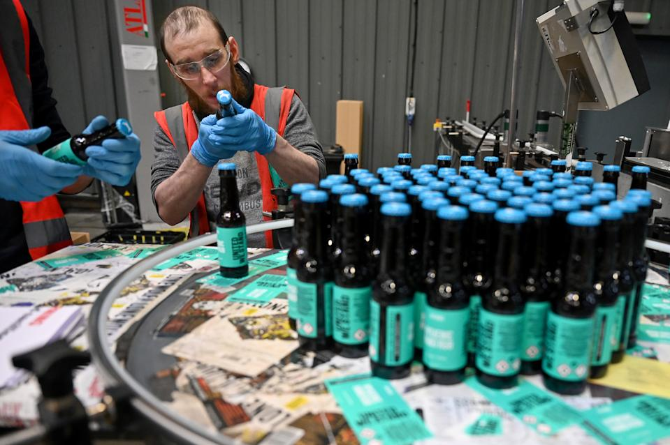 BrewDog helped produce hand sanitser at the start of the pandemic. (Getty)