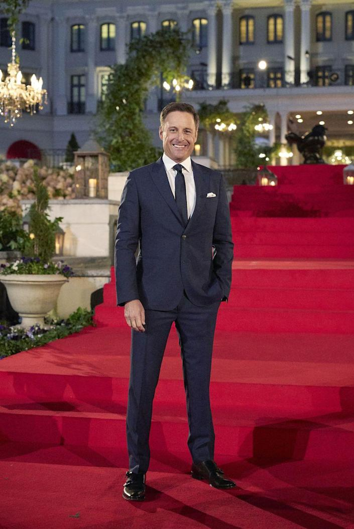 """<p><em>The Bachelor's</em> main man does more than merely host: he also inflicts his dad jokes on everyone.</p><p>""""When people are showing up in windmills and suitcases and all that, yeah, I'll throw some lines out every now and then. You know, some one-liners,"""" he told <em><a href=""""https://www.etonline.com/chris-harrison-spills-bts-bachelor-secrets-hidden-cameras-limo-exits-and-fantasy-suites-exclusive"""" rel=""""nofollow noopener"""" target=""""_blank"""" data-ylk=""""slk:ET"""" class=""""link rapid-noclick-resp"""">ET</a></em>. """"You know, I got the dad jokes. I like to share.""""<br></p>"""