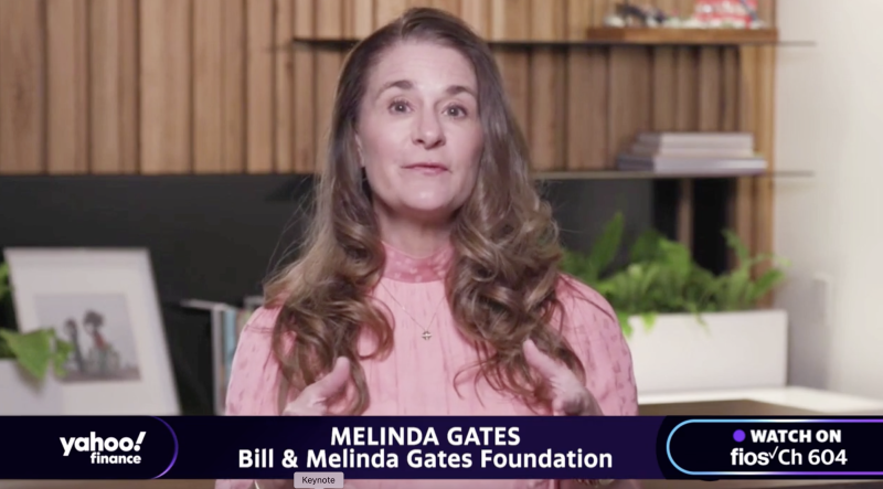 "Melinda Gates, co-chair of the Bill and Melinda Gates Foundation, appears on Yahoo Finance's ""Influencers with Andy Serwer."""