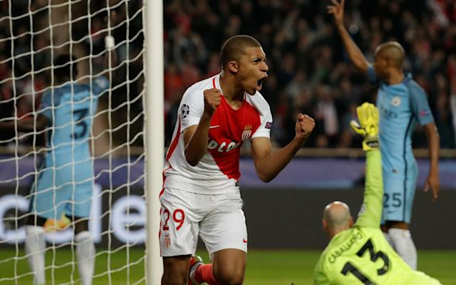 <span>Mbappe is the first player ever to score in his first four Champions League knockout ties</span> <span>Credit: Reuters </span>