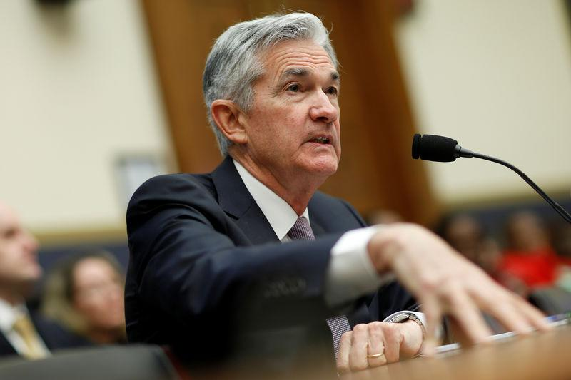 FILE PHOTO: Federal Reserve Chairman Jerome Powell delivers the semi-annual Monetary Policy Report to the House Financial Services Committee hearing in Washington