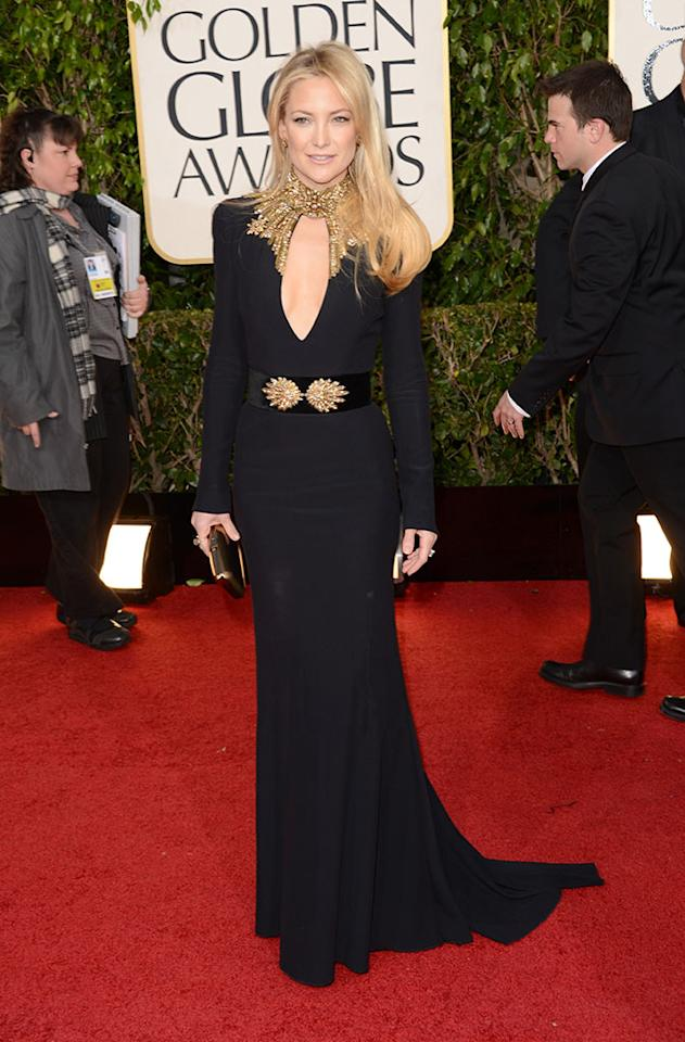 Kate Hudson arrives at the 70th Annual Golden Globe Awards at the Beverly Hilton in Beverly Hills, CA on January 13, 2013.