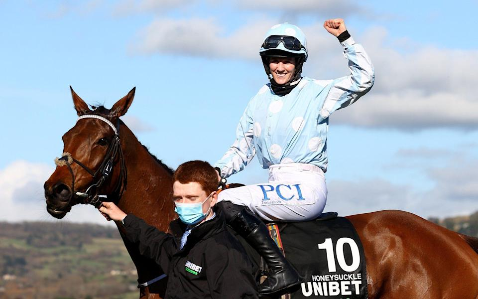 Blackmore won the Champion Hurdle on Honeysuckle and was crowned top jockey at Cheltenham last month - Getty Images