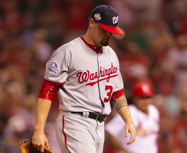 The Nationals' bullpen blew it again. (AP Photo)