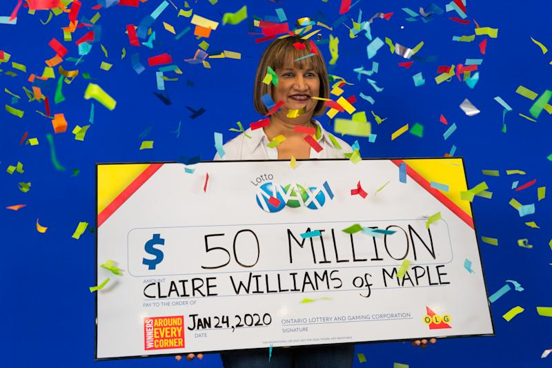 Claire Williams, $50 million Lotto Max jackpot (OLG)