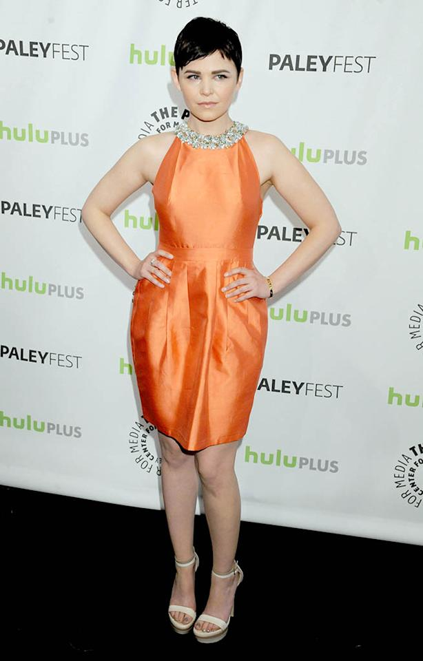 "Ginnifer Goodwin attends the 30th annual PaleyFest featuring the cast of ""Once Upon A Time"" at the Saban Theatre on March 3, 2013 in Beverly Hills, California."