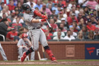 Minnesota Twins' Ryan Jeffers hits a three-run home run during the third inning of a baseball game against the St. Louis Cardinals on Saturday, July 31, 2021, in St. Louis. (AP Photo/Joe Puetz)