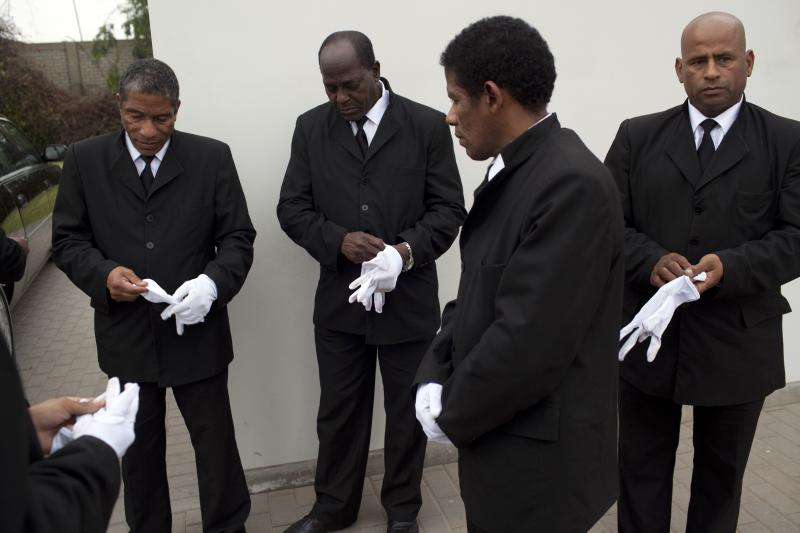 Lima: Where the pallbearers are black