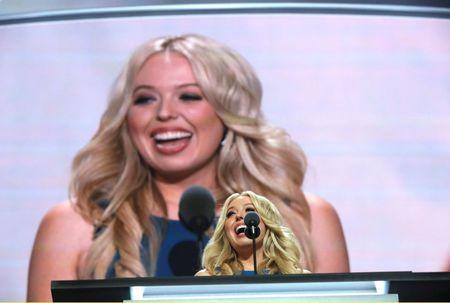 Tiffany Trump speaks about her father, Republican U.S. presidential nominee Donald Trump, at the Republican National Convention in Cleveland, Ohio, U.S. July 19, 2016. REUTERS/Brian Snyder