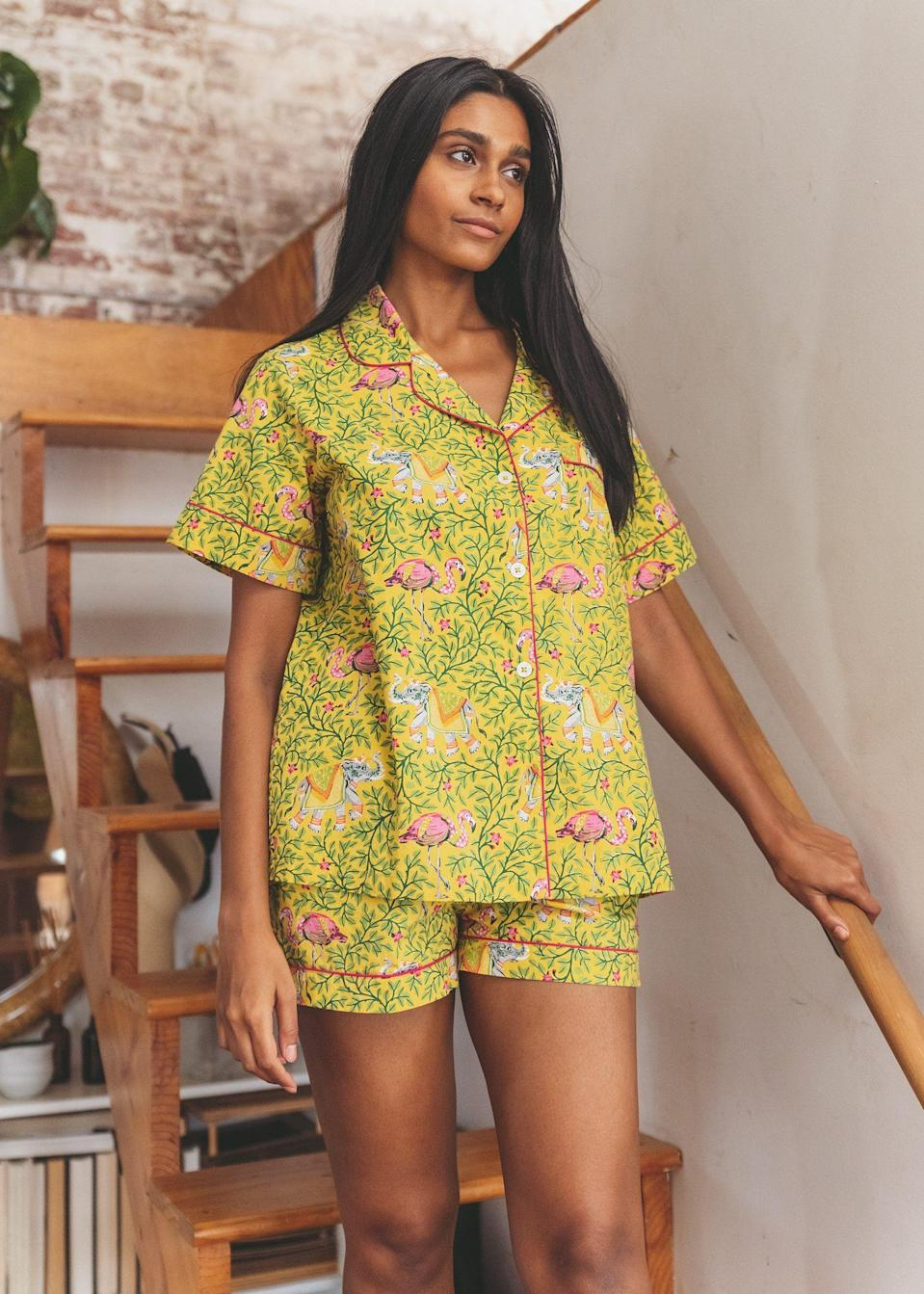 """<p><strong>Print Fresh</strong></p><p>printfresh.com</p><p><strong>$118.00</strong></p><p><a href=""""https://printfresh.com/products/flamenco-short-sleep-set-dandelion#image-18009529352326"""" rel=""""nofollow noopener"""" target=""""_blank"""" data-ylk=""""slk:Shop Now"""" class=""""link rapid-noclick-resp"""">Shop Now</a></p><p>Available in sizes XXS-4X, these colorful pajamas are sure to put a smile on any stepmom's face.</p>"""