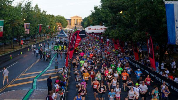 PHOTO: Runners participate in the Rock 'n' Roll Half Marathon on Sept. 15, 2019 in Philadelphia, Pennsylvania. (Mitchell Leff/Getty Images)