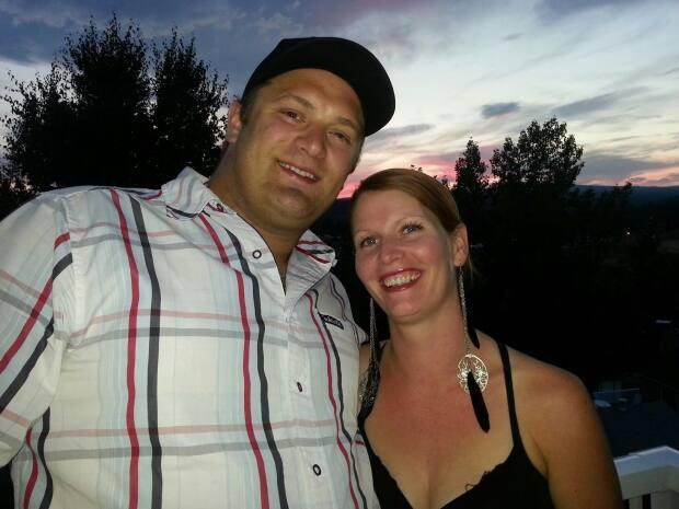 Logan Lake resident Crystal Mavor, right, and her husband were on the road travelling across the Thompson-Nicola region for a week after their entire family had to leave home under evacuation order. (Crystal Mavor/Facebook - image credit)