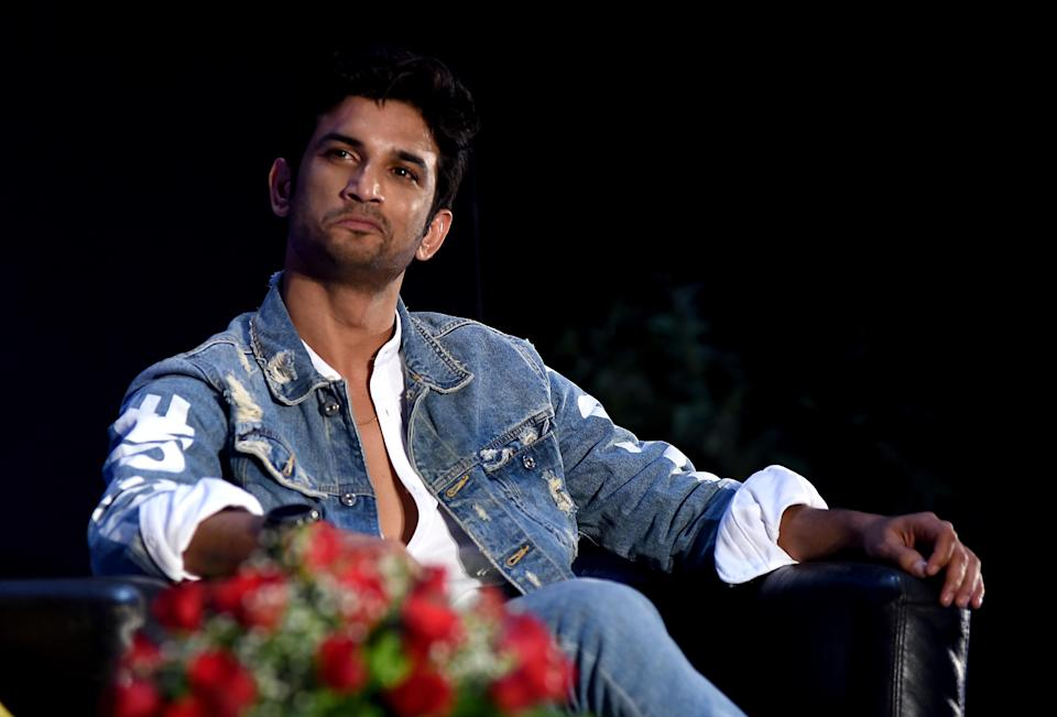Indian Bollywood actor Sushant Singh Rajput attends the book launch of 'Boundless' in Mumbai on April 10, 2019. (Photo by Sujit Jaiswal / AFP)        (Photo credit should read SUJIT JAISWAL/AFP via Getty Images)