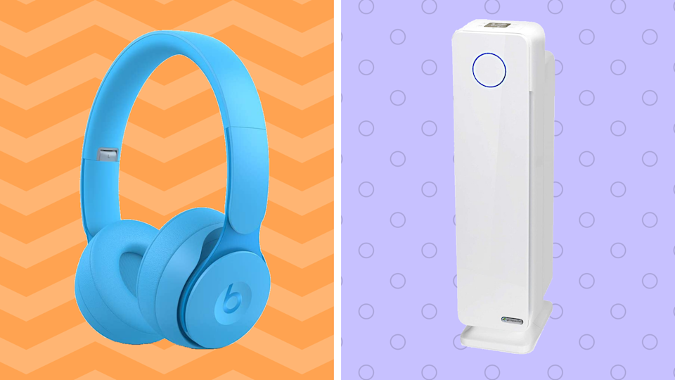 Jazz up your weekend with cool-blue Beats wireless headphones—and clean up your home environment with the Guardian Tech air purifier. Both are on sale. (Photo: Amazon)