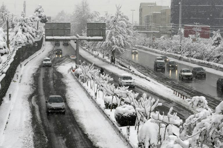 Tehran spreads up the southern slopes of the Elburz mountains and heavy snowfalls often create challenging driving conditions
