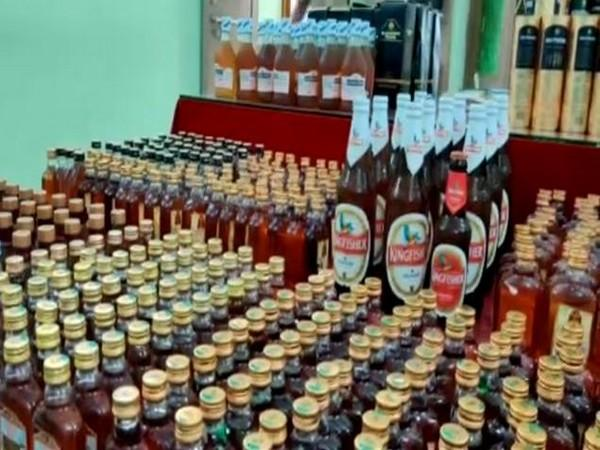 A view of the bottles seized by police. (Photo/ANI)