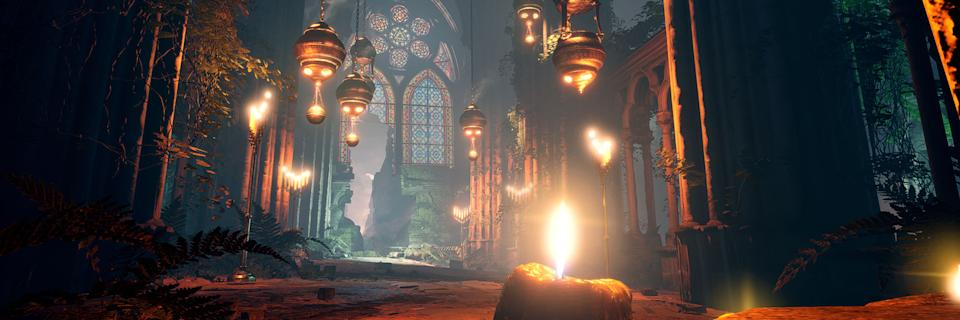 'Cathederal' virtual set for 'Percival' designed by Jack Eaves, Frederic Fitzpatrick, Elliot Staker.