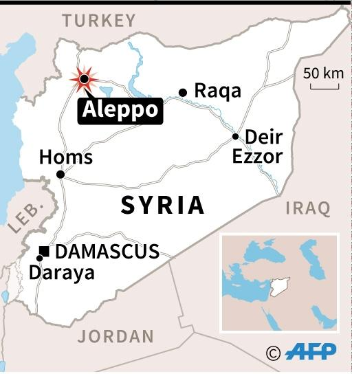 Once Syria's economic powerhouse, Aleppo has been ravaged by the fighting that began in mid-2012 (AFP Photo/)