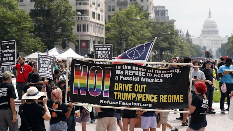 It's all hands on deck as Washington police keep counter-protesters away from a far right rally