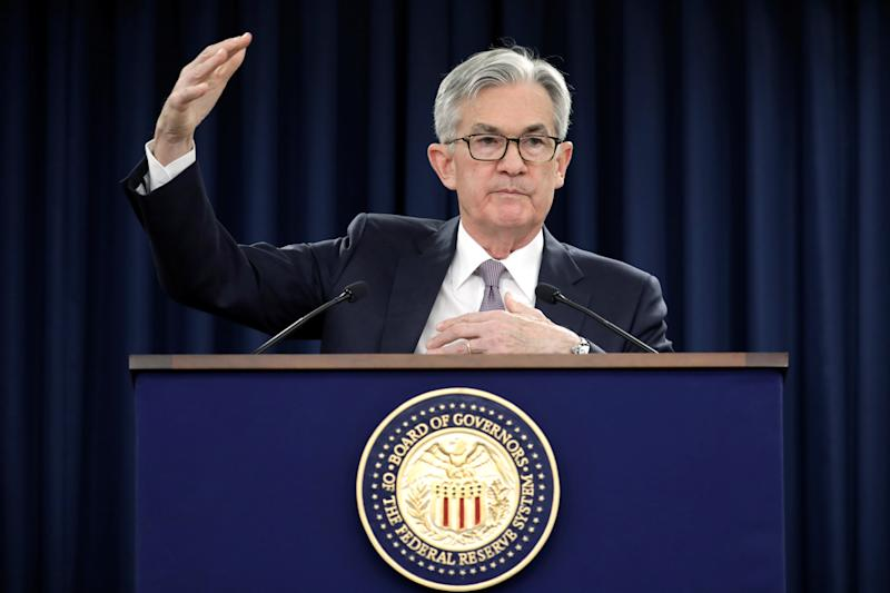 Federal Reserve Chairman Jerome Powell speaks at his news conference following the two-day meeting of the Federal Open Market Committee (FOMC) meeting on interest rate policy in Washington, U.S., January 29, 2020. REUTERS/Yuri Gripas