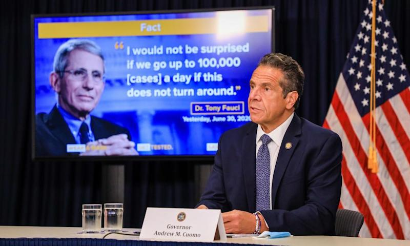 Governor Andrew Cuomo said Wednesday: 'Citizen compliance is slipping. That's a fact – look at the East Village, the West Side, Brooklyn, Queens.'