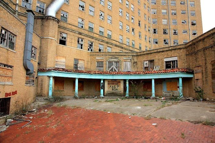 """<p>The Baker Hotel opened in 1922 and was declared a <a href=""""https://www.housebeautiful.com/design-inspiration/real-estate/news/g3709/dunleith-for-sale/"""" rel=""""nofollow noopener"""" target=""""_blank"""" data-ylk=""""slk:national landmark"""" class=""""link rapid-noclick-resp"""">national landmark</a> in 1982 but closed its doors to the public in 1972 and has been crumbling ever since. Its decline, however, wasn't the source of its haunted tendencies. First discovered in the 1950s/60s, the <a href=""""http://www.texasescapes.com/TexasPanhandleTowns/MineralWellsTexas/BakerHotelGhosts.htm"""" rel=""""nofollow noopener"""" target=""""_blank"""" data-ylk=""""slk:Woman on the Seventh Floor"""" class=""""link rapid-noclick-resp"""">Woman on the Seventh Floor</a> is the resident ghost at the Baker Hotel. She was the mistress of the hotel manager, but when the stress of her affair became too much, she threw herself off the top of the building. Before the hotel closed, lipstick stains were reported on glasses in rooms without guests and the sounds of clacking heels still resonate through the decrepit hallways to this day. Are scorned lady ghosts your thing? You can now go on a <a href=""""https://visitmineralwells.org/top_ten/the-baker-hotel/"""" rel=""""nofollow noopener"""" target=""""_blank"""" data-ylk=""""slk:walking tour"""" class=""""link rapid-noclick-resp"""">walking tour</a> around the hotel.</p><p><em>Image courtesy of Texas Eagle via <a href=""""https://www.flickr.com/photos/texaseagle/6264861138/in/photolist-h5mYqr-axB3Xd-eFEMsm-ekFBSe-h5n1ye-bVrynB-ekMmFU-ekMmKL-axB47A-ekMmPA-ekFBJR-ekFBNv-bVrydV-ekMncf-ekMn8h-ekFCck-4knS46-8HXaer-bVryzK-abkkVF-ekMmSS-ccNNZW-8J1eRy-ekFC5B-8J1iKw-nQkp38-axB3ZU-abock1-4knpZk-8HXctT-bVryat-4krE8S-bVryxZ-abkmjD-8J1j57-abkmBF-5vvKai-ccNPb3-8HXdjk-8J1h61-8HXckP-bVryqn-abkmUT-ockr2M-4knpYV-bVrykT-4knS44-axymbZ-abkm4c-axykWZ"""" rel=""""nofollow noopener"""" target=""""_blank"""" data-ylk=""""slk:Flickr"""" class=""""link rapid-noclick-resp"""">Flickr</a></em><br></p>"""