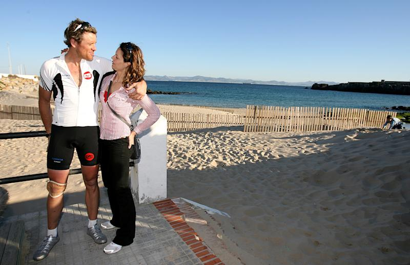 James Cracknell and his wife Beverley Turner arrive in Tarifa, Spain, ahead of his swim attempt with comedian David Walliams, across the Strait of Gibraltar from Spain to Morocco For Sport Relief. To find out more about the charity challenge, please visit www.challengecracknell.com