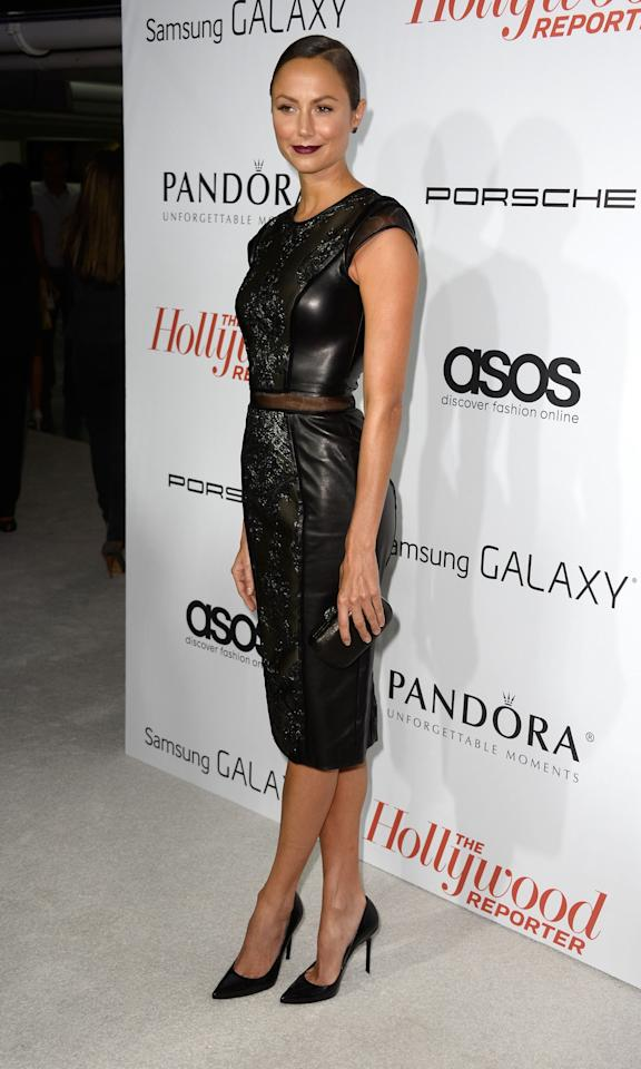WEST HOLLYWOOD, CA - SEPTEMBER 19: Model/actress Stacy Keibler arrives at The Hollywood Reporter's Emmy Party at Soho House on September 19, 2013 in West Hollywood, California. (Photo by Frazer Harrison/Getty Images)