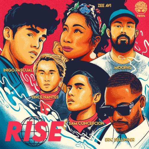 """Fans can see more of this animated version of the artistes in the music video for """"RISE""""."""