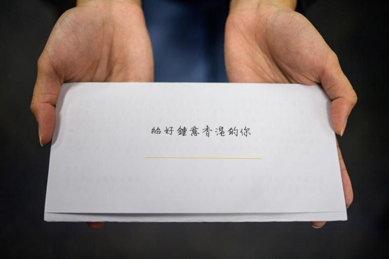 22-year-old Hei writes letters to fellow pro-democracy activists who were jailed for taking part in last year's protests in Hong Kong