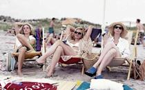 """<p><strong>""""I Love a Charade"""" (2002)</strong><br><br>Over six seasons, HBO's fabulous foursome made several trips to many New Yorkers' go-to beach spot, the Hamptons. Carrie Bradshaw & Co. first landed in the rich kids' playground in Season 1's """"Bay of Married Pigs,"""" but that was more frat house than fabulous. We much prefer the group's more mature weekend getaway to Richard Wright's amazing Hamptons spread in Season 5, where they partied with an A-list crowd — and Carrie got a Berger with a side of sexy.<br><br>(Photo: Screengrab via YouTube) </p>"""