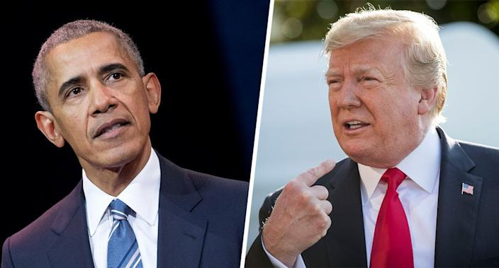 Former President Barack Obama and President Donald Trump (Photos: Stephane Cardinale/Corbis/Getty Images; Sarah Silbiger/ Getty Images)